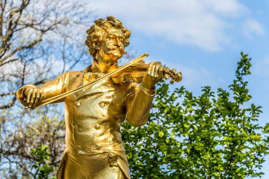 Johann Strauss statue, Danube River Cruise