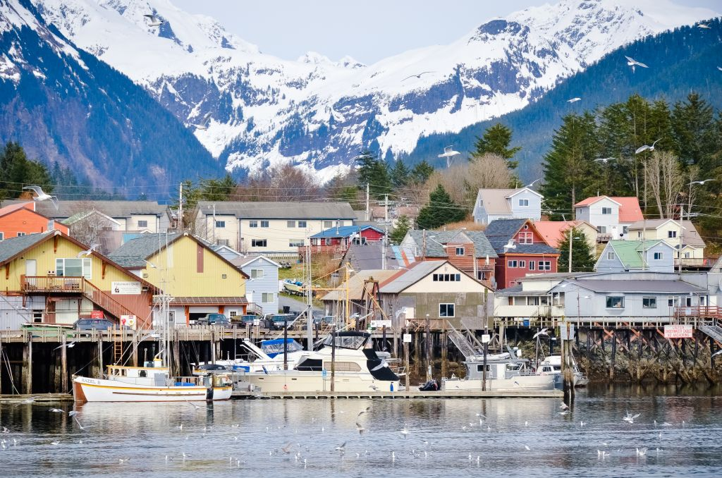 Waterfront city in Alaska, Alaska cruise
