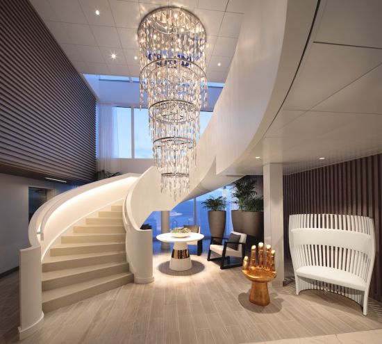 Celebrity Cruises Edge Apex Spa Lobby