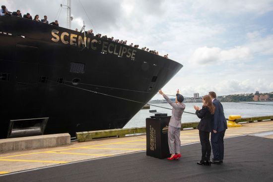 Helen Mirren christens Scenic Eclipse