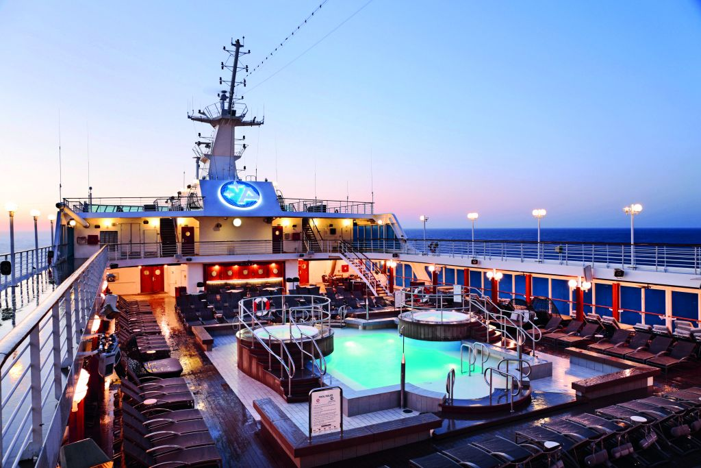 Pool Deck at sunrise -