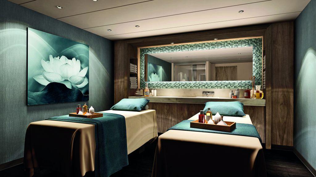 Norwegian Encore Mandara Spa Treatment Room