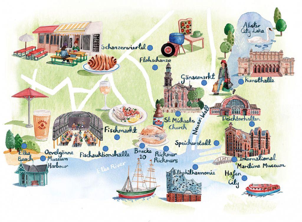 Hamburg: map