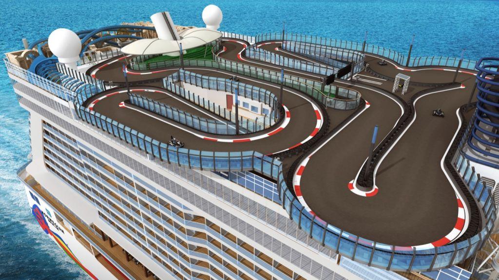 NCL Norwegian Encore: Speedway racetrack