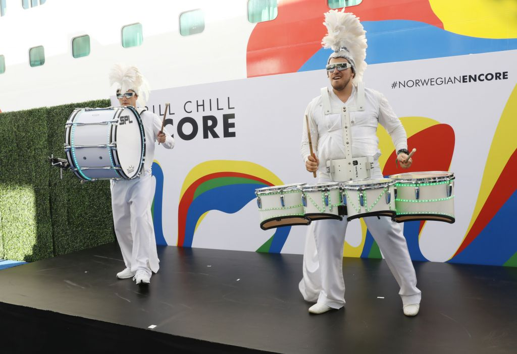 Norwegian Encore Christening Ceremony