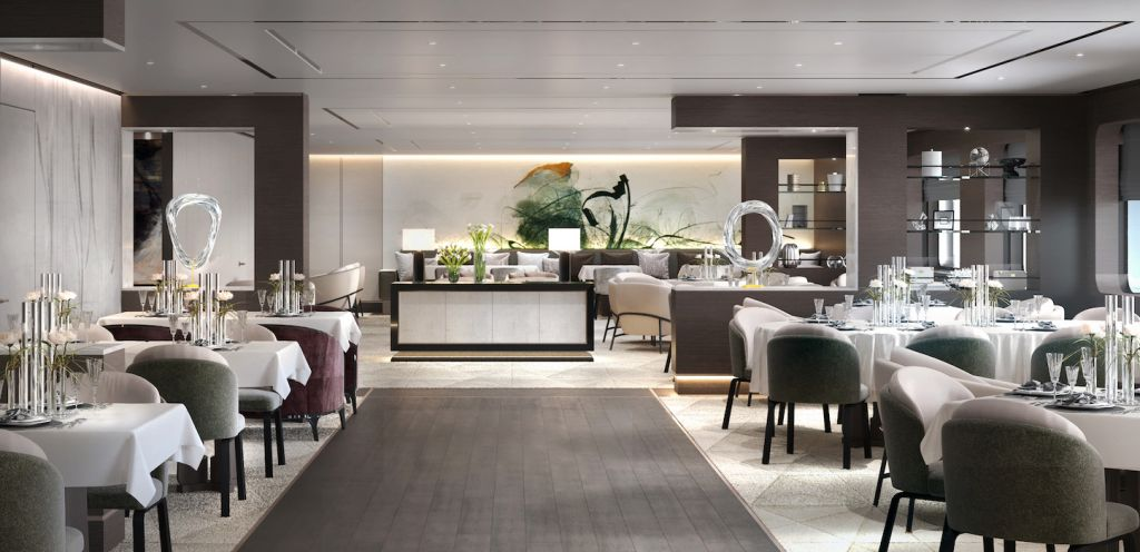 Ritz-Carlton yacht collection Main Dining Room Day View