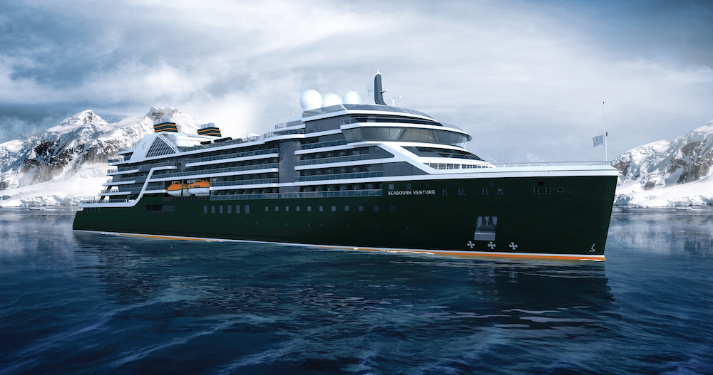 Expedition cruise: Seabourn Venture - exterior rendering (front)