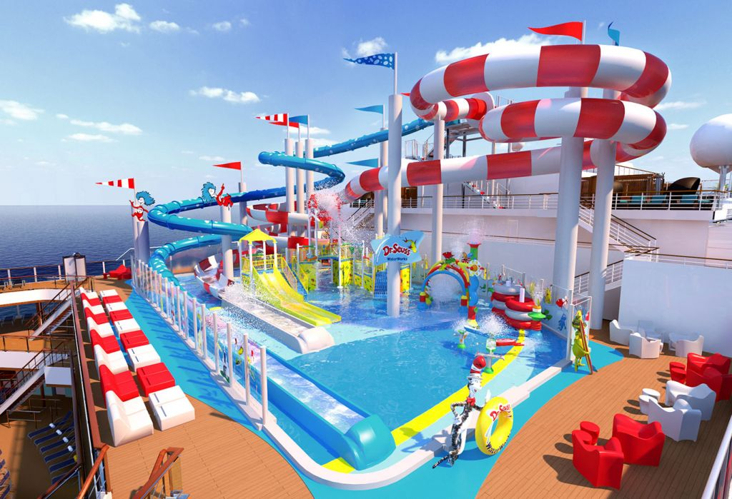 Family cruises: Carnival Horizon's WaterWorks