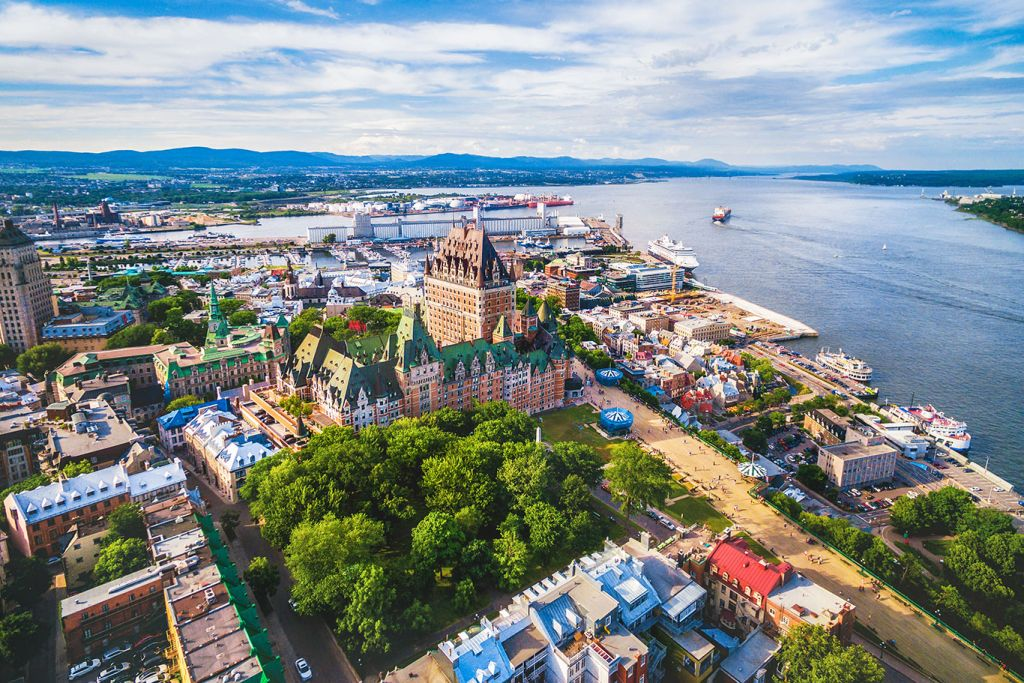 Quebec City: aerial view