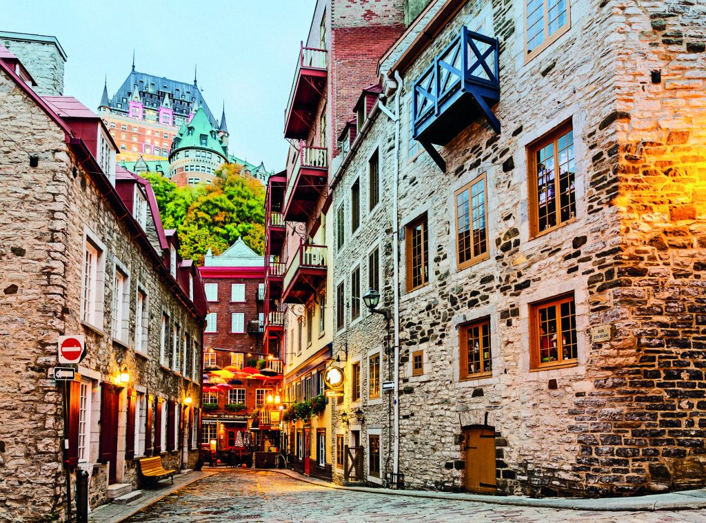 Quebec City has many winding cobbled streets