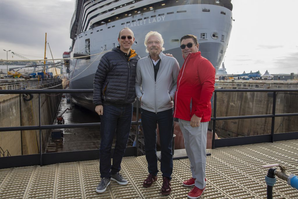 Virgin Voyages: Richard Branson with Virgin Voyages team