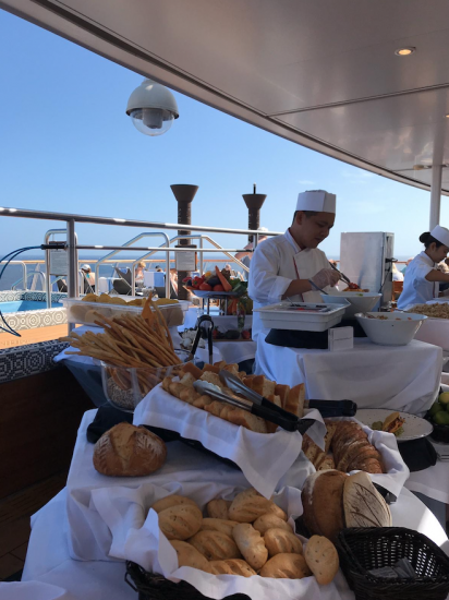 Viking Sky: bread food sail away