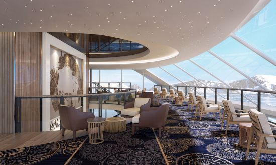 Viking Cruises, Viking Expedition cruises: explorers' lounge