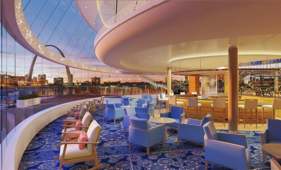 Viking Cruises Mississippi explorer lounge