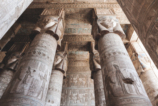 Nile River cruise temple of dendera