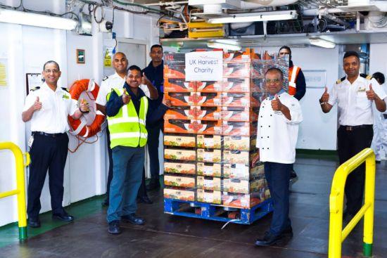 P&O Cruises: UK harvest food donations coronavirus