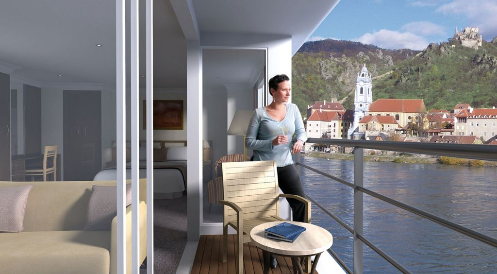 Europe river cruise: APT twin balcony suite