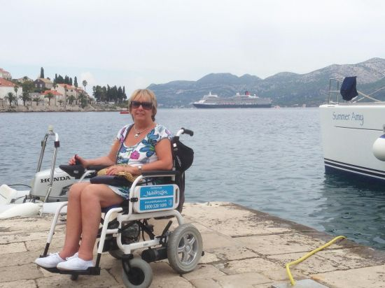 Electric Wheelchair abroad